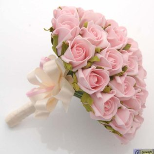 Pink Rose Wedding Bouquet We Really Like The Shape Of Bouquet