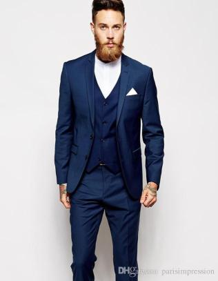 Popular Blue Suit Wedding