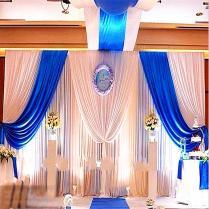 Popular Blue Wedding Decorations Backdrops Curtain Wedding