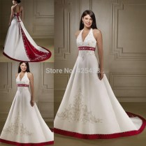 Popular Cheap Red And White Wedding Dresses