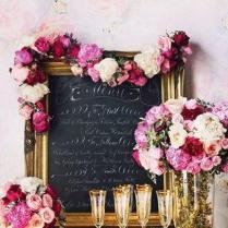Pretty Menu Display; Wedding Reception Idea (bridesmagazine Co Uk