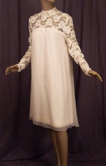 Priscilla Presley 60s Wedding Dress