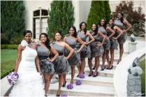 Purple And Grey Wedding