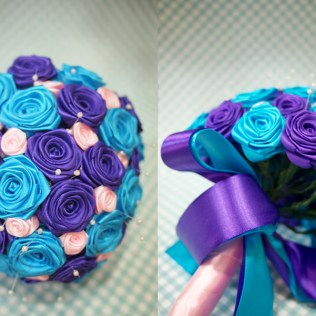 Purple And Turquoise Wedding Flowers Adorable Purple And