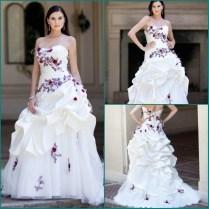 Purple And White Beach Wedding Dresses