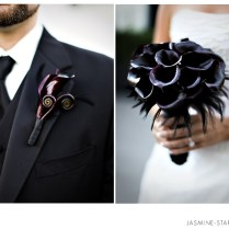 Purple Black Silver Wedding Cakes