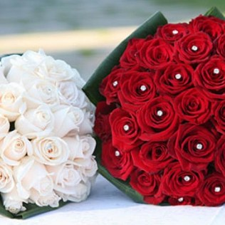 Red Rose Wedding Bouquet Pics