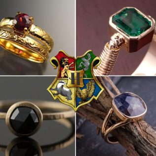 Rings Sorted! Harry Potter Wedding Rings For All Four Hogwarts