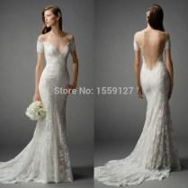 Scalloped Back Wedding Dress