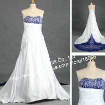 Silver And Blue Wedding Dress