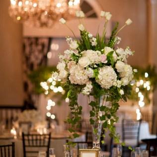 Simple White Flower Centerpieces
