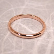 Size 6 Band 14k Wedding Ring Solid Rose Gold Delicate Blush