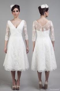 Sleeve Short Wedding Dress