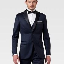 Top Quality Custom Made Dark Blueblack Groom Tuxedos Suit Worn In