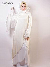 Wedding Abaya Stylishly Stitched White Color Wedding Abaya