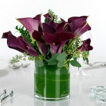 Wedding Centerpieces Calla Lilies Purple Miniature Calla Lily