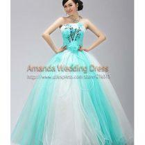 Wedding Dresses Aqua Blue