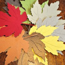 Wedding Finds For Fall Weddings Colorful Paper Leaves