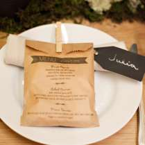 Wedding Menu Display Ideas