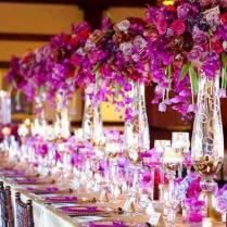 Wedding Reception Flower Arrangements And Decoration In Los