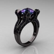 Wedding Rings Ideas Diamond Centerpiece Black Unique Wedding