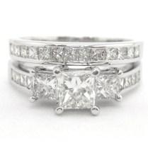 Wedding Rings Ideas Princess Cut Diamond Centerpieces Blue