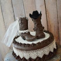 Western Wedding Cowboy Boot Cake Topper Western Bride And Groom