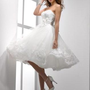 White Short Wedding Dresses Uk