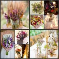 Wildflower Bouquet And Centerpiece Ideas