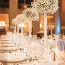 Winter Wedding Decor, White And Blue, Baby's Breath, The Bell