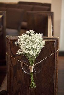 Wedding Decor For Church Pews