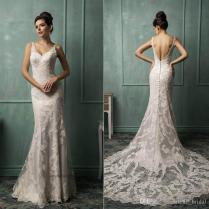 2016 Wedding Dresses Backless Mermaid Wedding Dresses Lace Castle