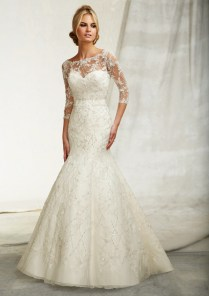 Beautiful Wedding Dresses With 3 4 Sleeves