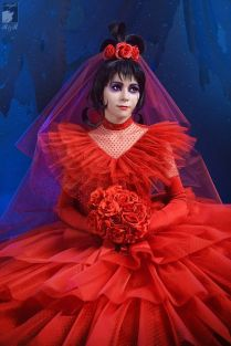 Beetlejuice Red Wedding Dress