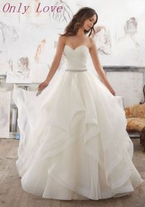 Elegant Lace Organza Ruffle Wedding Dress 74 About Western Wedding