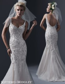 Friday Favorite Glamorous Fitted Wedding Dress Love Maggie