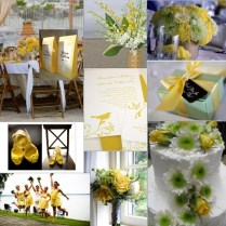 Green And Yellow Wedding Decorations
