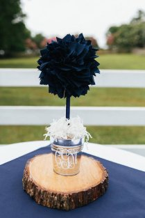 Navy Blue Centerpiece Wedding Centerpiece Unique Baby