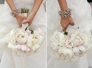 Peony Bridal Bouquet Soft Ivory Light Pink