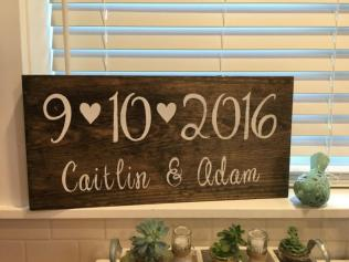 Save The Date Sign, Rustic Wedding Decor, Engagement Photos