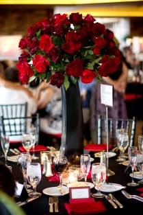 Tall Red Roses For Wedding Centerpieces