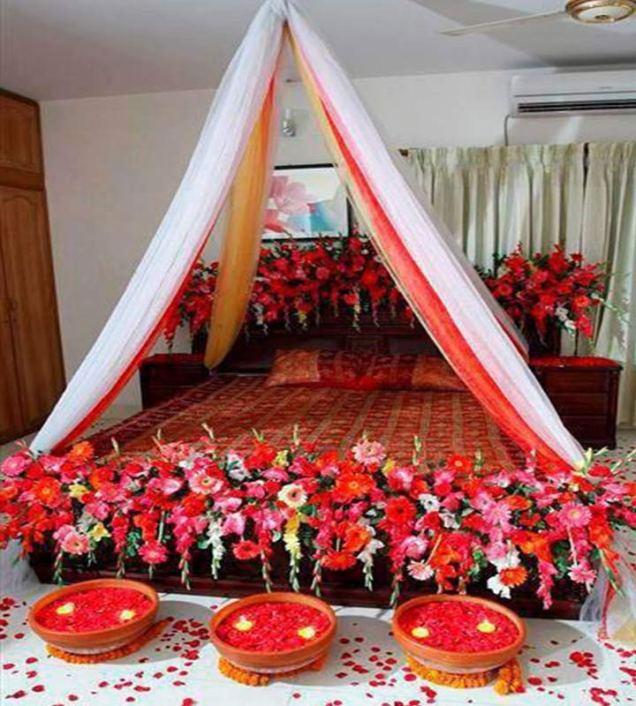 Wedding Night Bedroom Decoration Ideas 12066