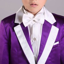 2015 Cheap Boys Wedding Suits Purple Boys Attire Boys Blazer For