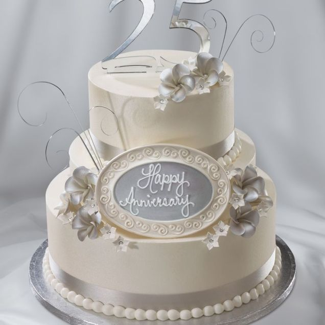 25th Wedding Anniversary Cake Ideas Best 25 25th Anniversary Cakes