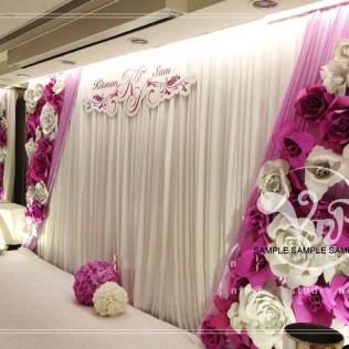 5pcs 50cm Custom Made Foam Paper Flower For Wedding Venue Backdrop
