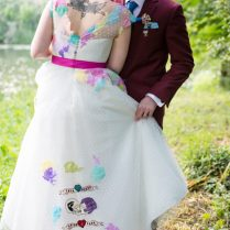 A Wedding Inspired By Colour, Sugar Skulls And Blink 182 · Rock N