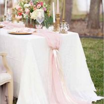 Amazing Of Table Runner Wedding 1000 Ideas About Wedding Table