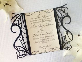 Awesome Halloween Themed Wedding Invitations Pictures
