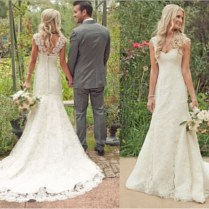 Awesome Rustic Lace Wedding Dress Ideas