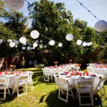 Backyard Reception Ideas